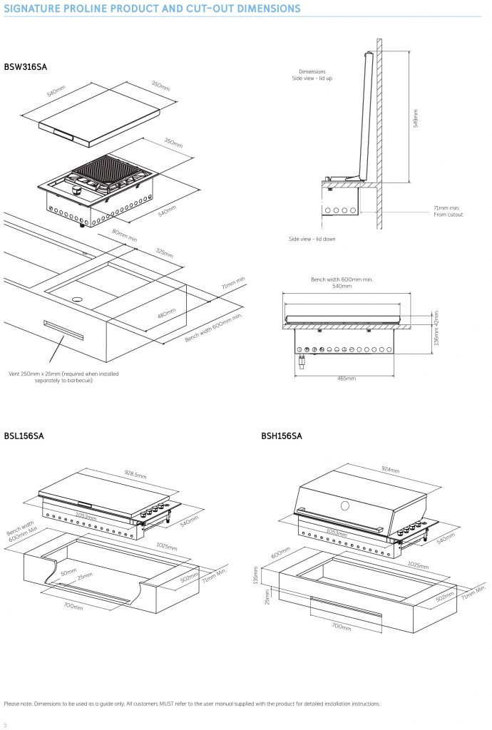 beefeater built in bbq installation instructions