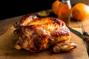 Roast-Chicken Weber Kettle